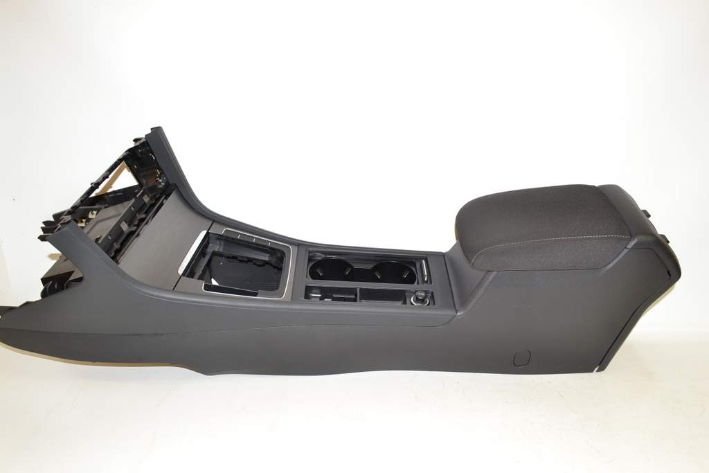VW Golf 7 Var 14- Center console panel cover fabric Black AMK