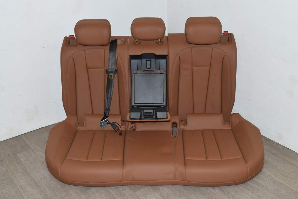 Détails sur Audi A4 8W B9 16- Banquette arrière banquette arrière cuir KMC  marron / granit
